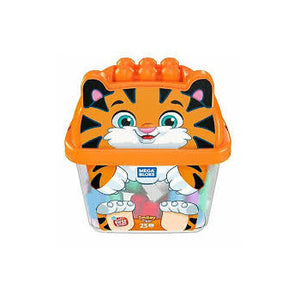 Mega Bloks Animal Bucket - Smiley Tiger