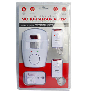 Wireless Infrared Motion Sensor Alarm Home Security Safety Protection w/ Remote