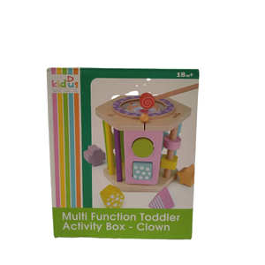 KidUs Multi Function Toddler Activity Box-Clown