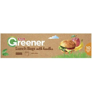 Multix Greener Lunch Bags With Handle (2x10pack)