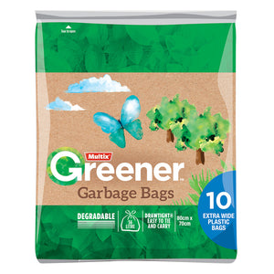 Multix Greener Garbage Bags 56L - 10 Pack