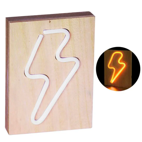 Lazy Dayz Lightning Bolt Neon Light