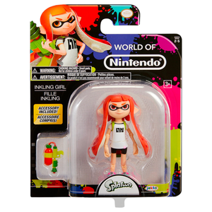 World Of Nintendo - Splatoon Inkling Girl Action Figure 4""