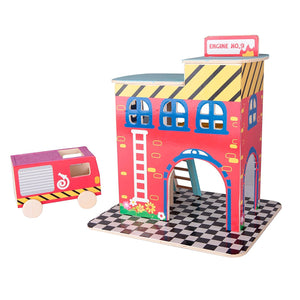 Build a Village Wood Craft Kit - Firehouse