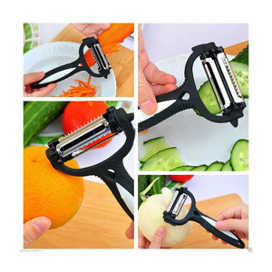 The Amazing Peeler Razor Sharp Versatile Blade Ergonomic Handle - Grey