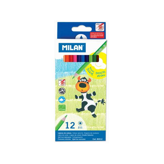 Milan Coloured Pencils 12 Pack