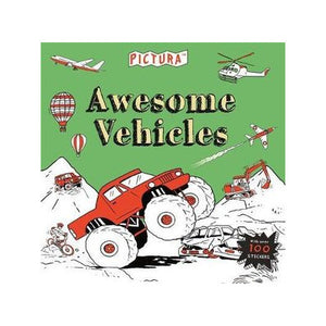 Pictura Awesome vehicles Colouring Book