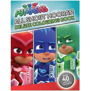 PJ Masks All Shout Hooray Deluxe Colouring Book