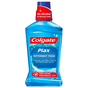Colgate Plax Peppermint Alcohol Free Mouthwash 250mL