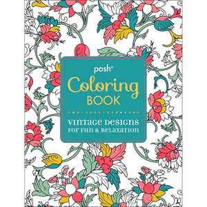Posh Coloring Book Vintage Designs