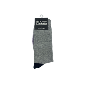 Sock Standard - Black/Pruple/Grey/X Pattern