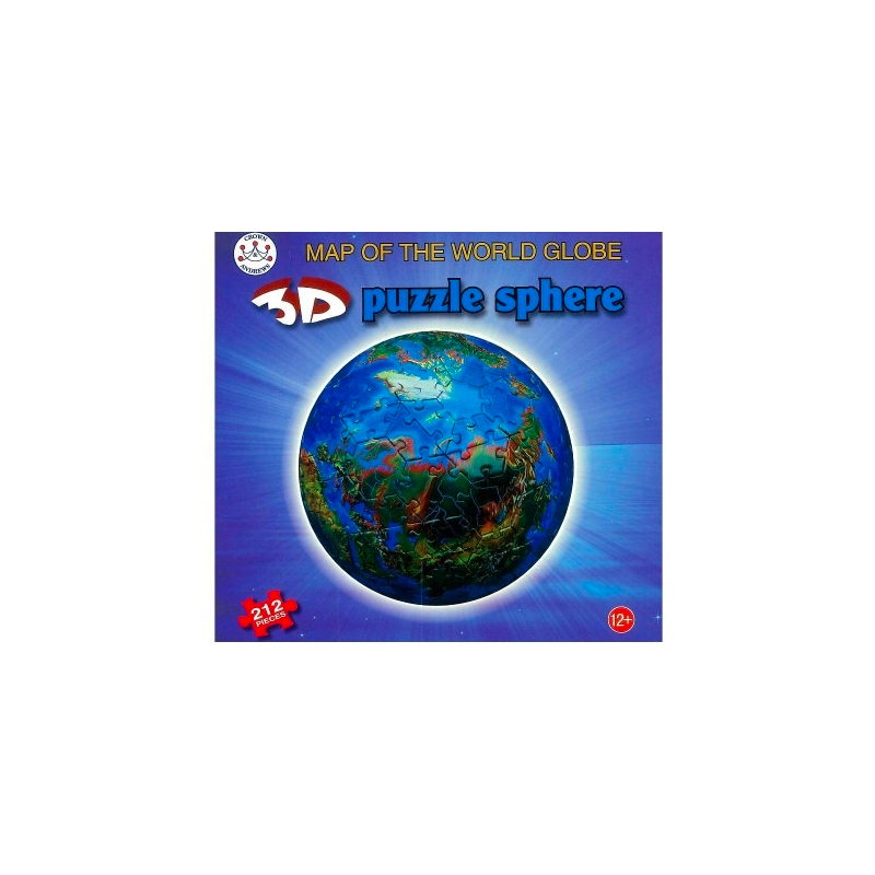 3D Sphere Map of The World Puzzle 212 Pieces