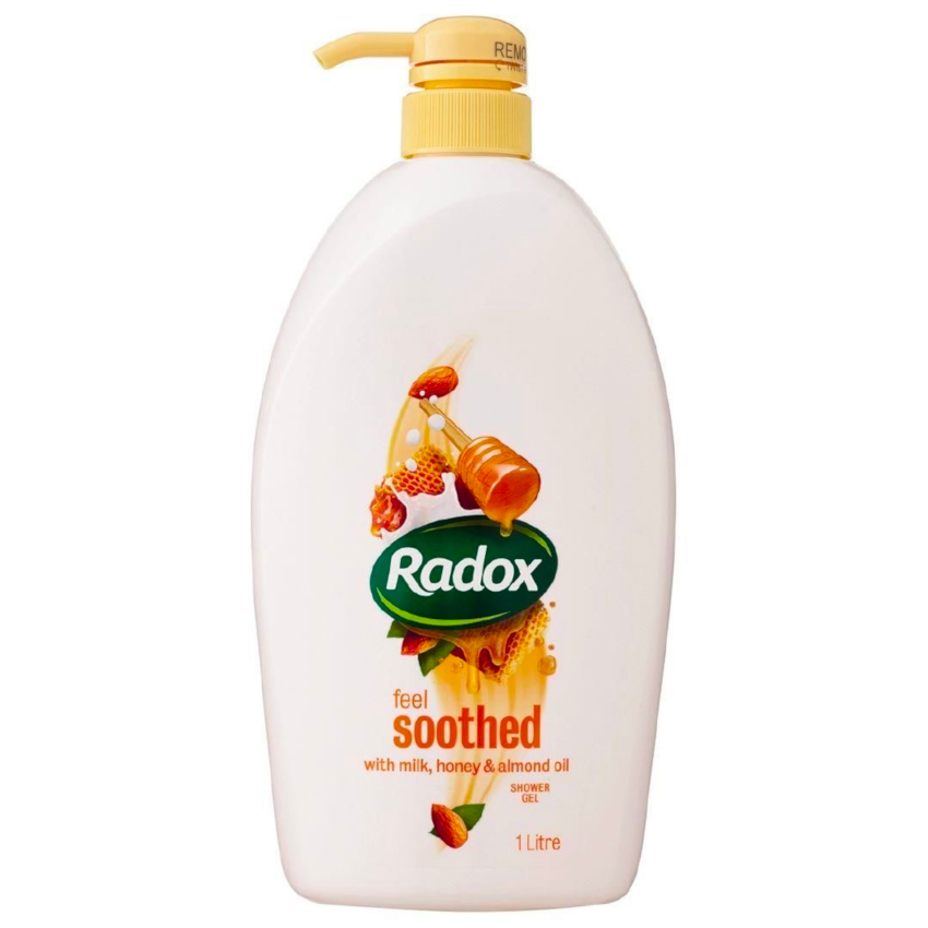 Radox Feel Soothed Shower Gel w/ Milk, Honey & Almond Oil 1L