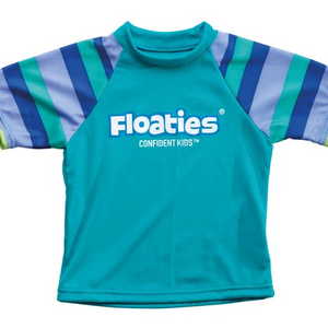 Floaties Rash Vest - 2-4 years - Green Striped