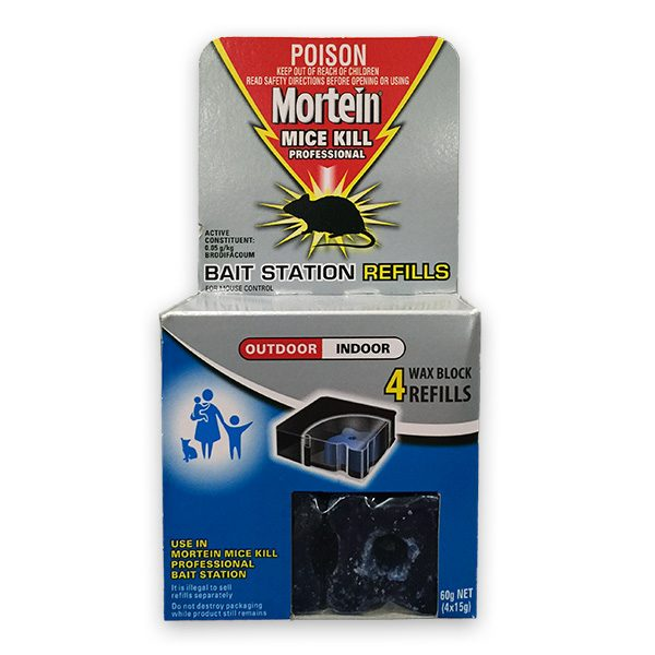 2 x Mortein Mice Kill Bait Station Refills 4pk Smooth Sales