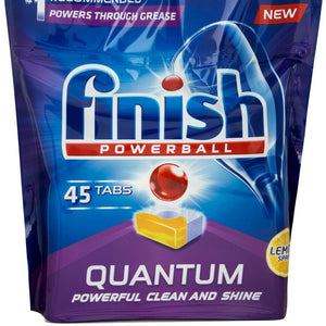 Finish Powerball Quantum Dishwasher Tablets Lemon 45 pack