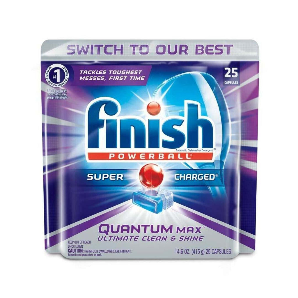 Finish Powerball Quantum Max Dishwashing Tablets - 25 Pack