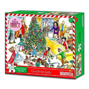 Fancy Nancy Chritmas Gala 100 Piece Glitter Puzzle