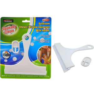 Bathroom Shower/Window Squeegee With Holder