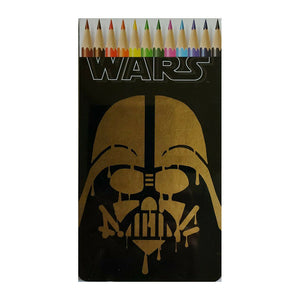 Star Wars Darth Vader Tin Colour Pencils - 12 Pack