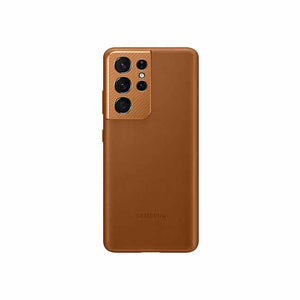 Samsung Galaxy S21 Ultra 5G Leather Case - Brown