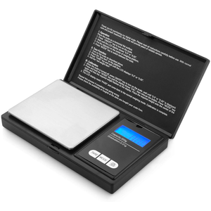 Electronic Portable Digital Weighing Scale with Back-lit LCD Display 200x0.01g Black