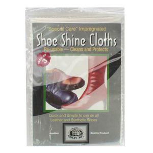 2 x Ashley-Mill Shoe Shine Cloth 3 Pk