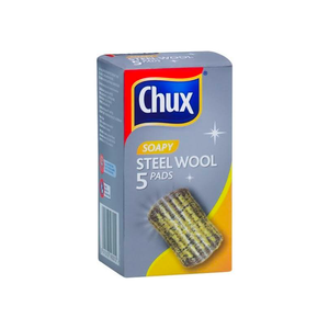 2 x Chux Soapy Steel Wool 5 Pack
