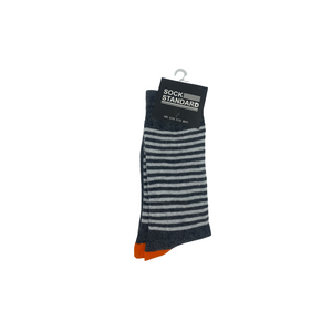 Sock Standard - Striped/Orange