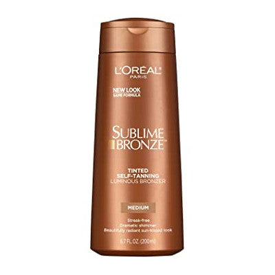 L'Oreal Paris Sublime Bronze Tinted Self Tanning Luminous Bronzer Medium 200ml