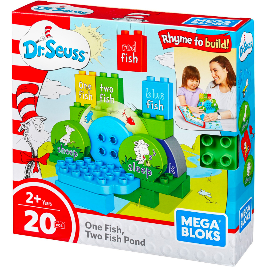 Mega Bloks Dr. Seuss One Fish Two Fish Pond Building Set