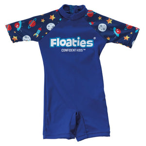 Floaties Boys' Swimsuit 2-3years - Blue Rocket Ship