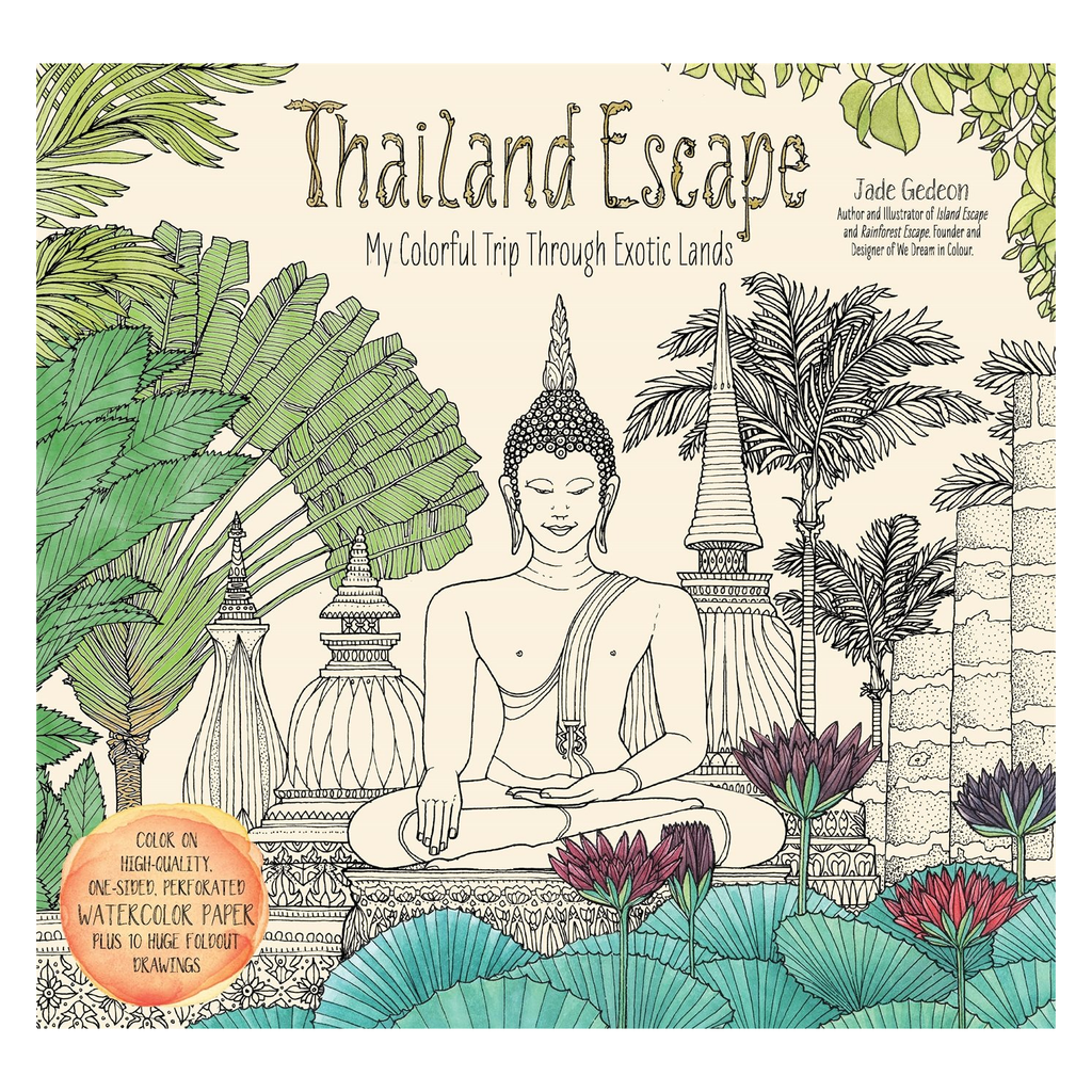 Thailand Escape Colouring Book For Adults