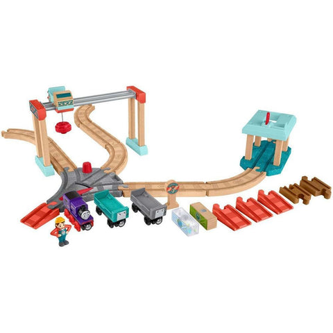 Thomas & Friends Wooden Railway Lift & Load Cargo Set by Fisher Price