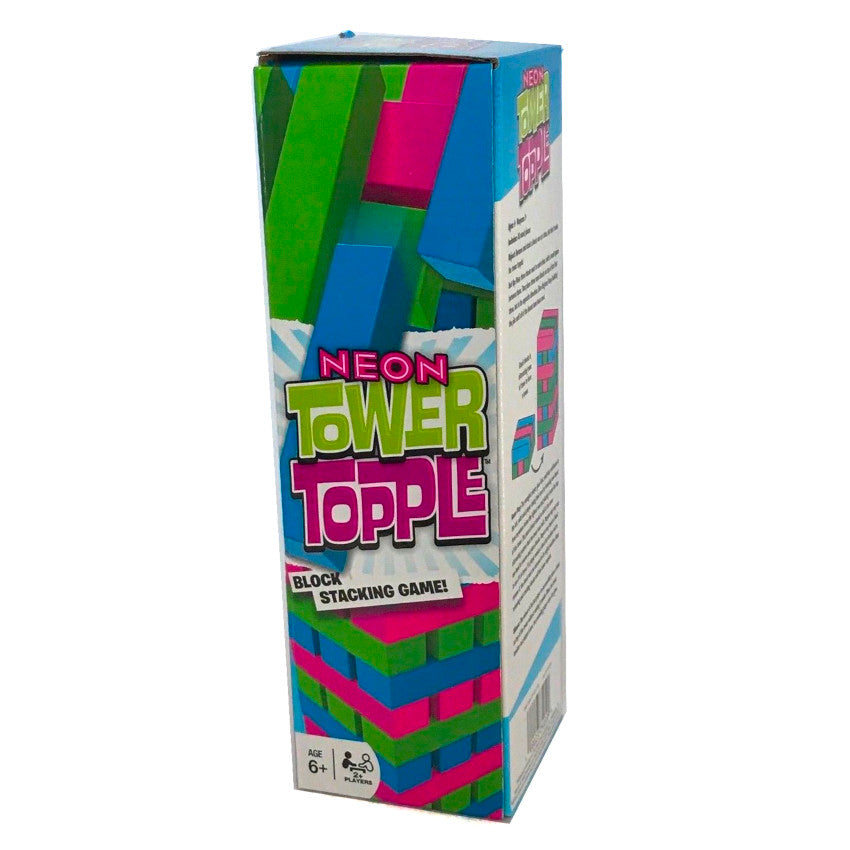Neon Tower Topple