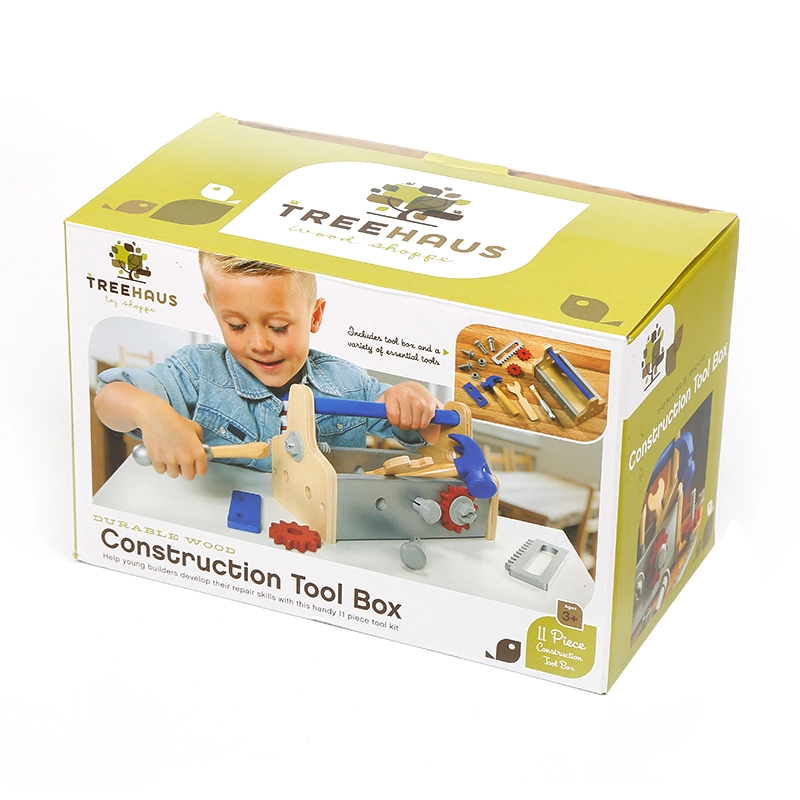 TreeHaus Construction Tool Box 11 piece set for kids