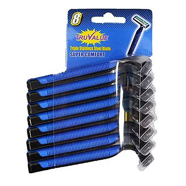 TruValue Super Comfort Mens Disposable Razors 8 Pack