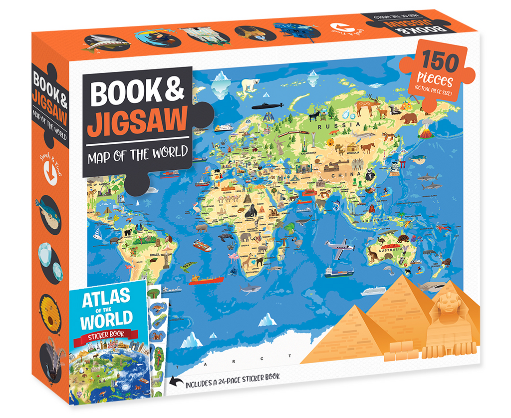 150 Piece Map Of The World Jigsaw