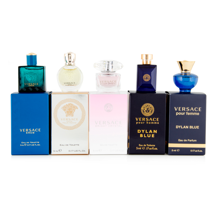 Versace 5-Piece EDT/EDP Mini Perfume Set 5mL