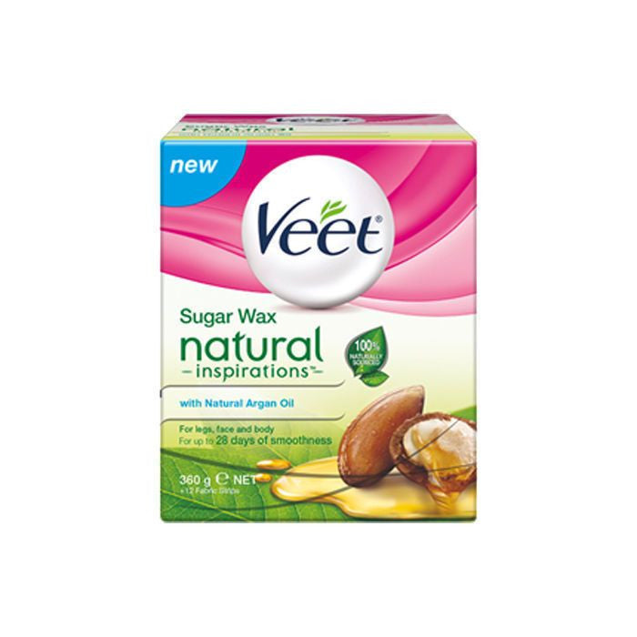 Veet Natural Inspirations Argan Oil Warm Wax Hair Removal, 360g