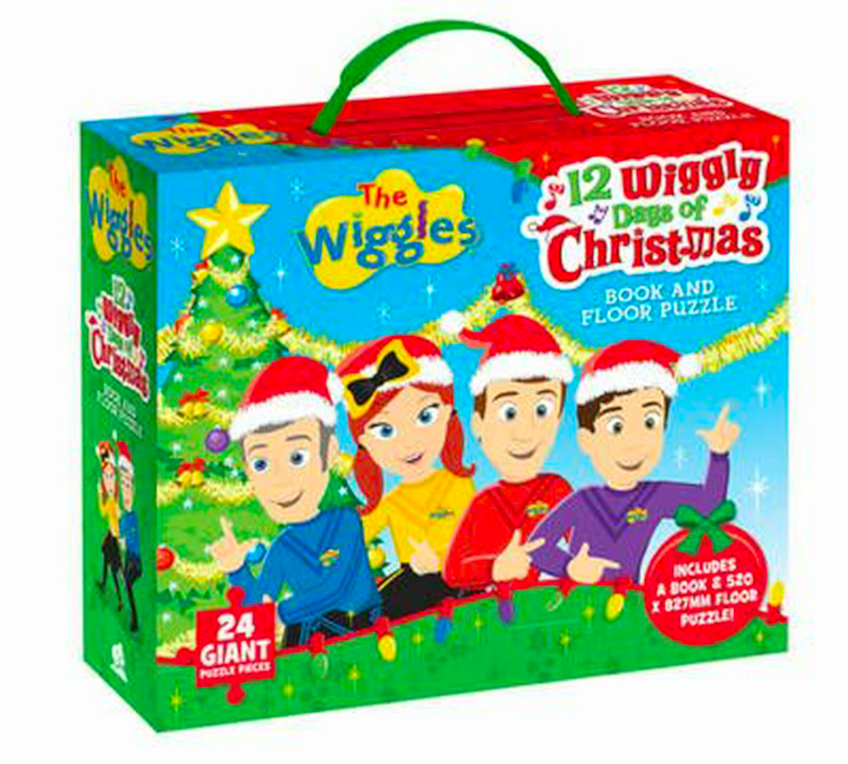 The Wiggles 12 Wiggly Days of Christmas: Book and Floor Puzzle