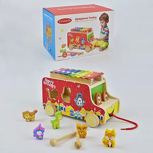 ViVi Wood Toy Xylophone Trolley