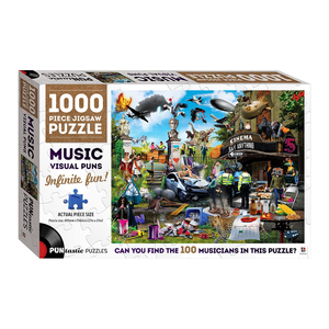 Puntastic Puzzles: Music 1000-Piece Jigsaw Puzzle