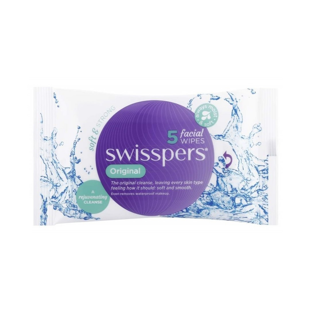 Swisspers 5 Original Facial Cleansing Wipes