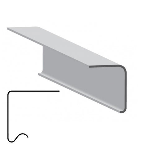 A200A Flat Edge Drip trim with return (pack of 5)