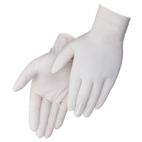 Latex gloves (Size Large) box of 100