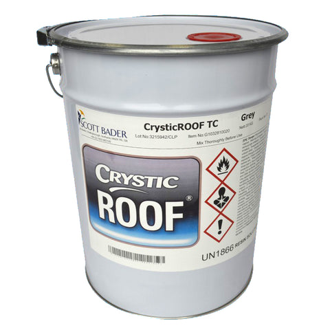 CrysticROOF Topcoat - Light Grey (20kg)