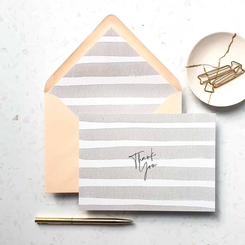 Stripe Thank You Notecard Set
