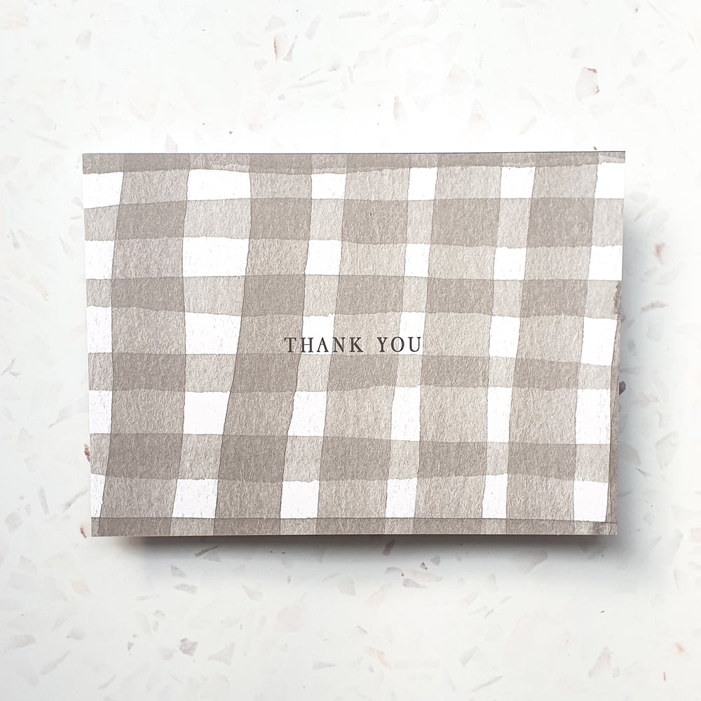 Personalised Thank You Check Notecard Set
