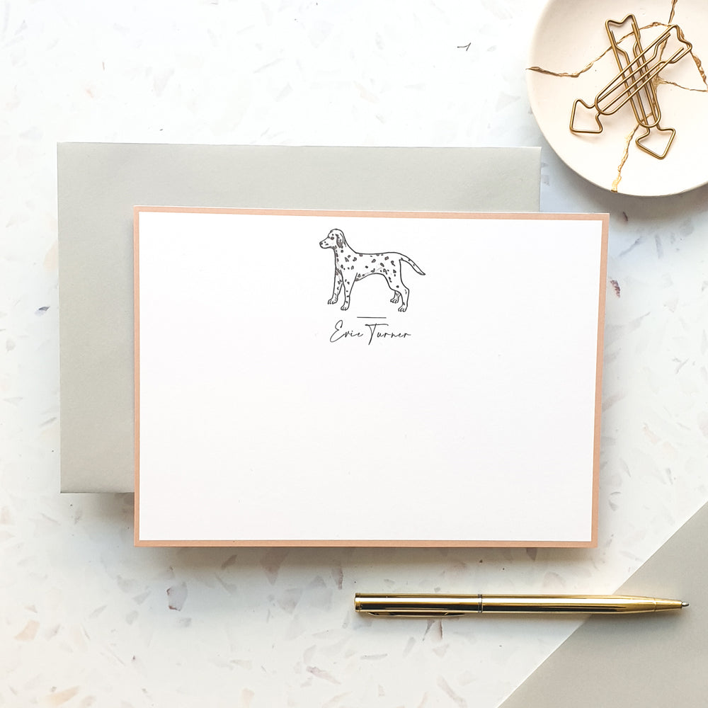Personalised Dalmatian Dog Notecard Set